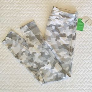 Army Fatigue Leggings + half sheer side leg